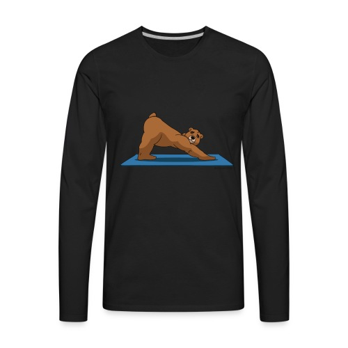 Oh So Yoga - Downward Dog - Men's Premium Long Sleeve T-Shirt