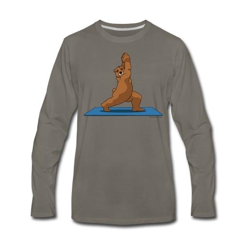 Oh So Yoga - Warrior 1 - Men's Premium Long Sleeve T-Shirt