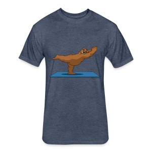 Oh So Yoga - Warrior 3 - Fitted Cotton/Poly T-Shirt by Next Level