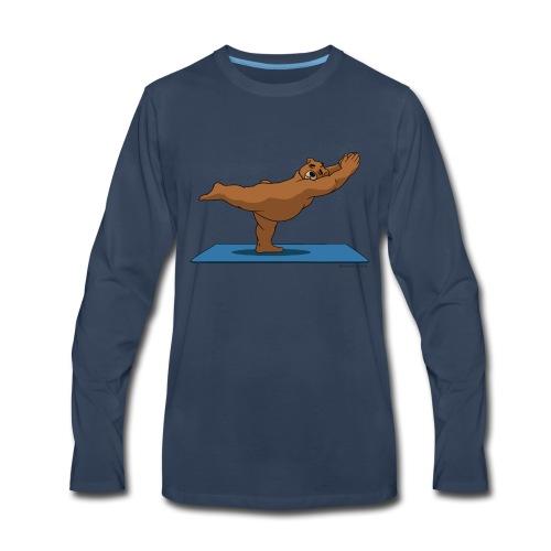 Oh So Yoga - Warrior 3 - Men's Premium Long Sleeve T-Shirt