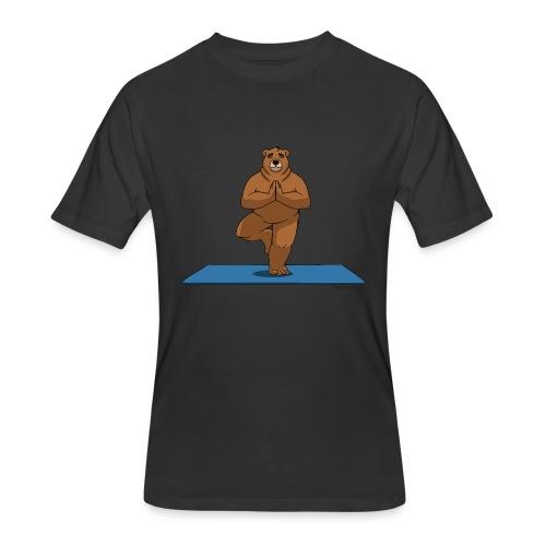 Oh So Yoga - Tree - Men's 50/50 T-Shirt