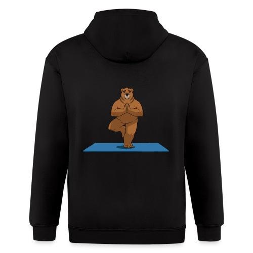 Oh So Yoga - Tree - Men's Zip Hoodie