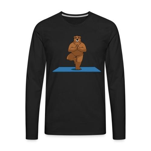 Oh So Yoga - Tree - Men's Premium Long Sleeve T-Shirt