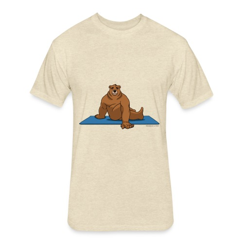 Oh So Yoga - Spine Twist - Fitted Cotton/Poly T-Shirt by Next Level
