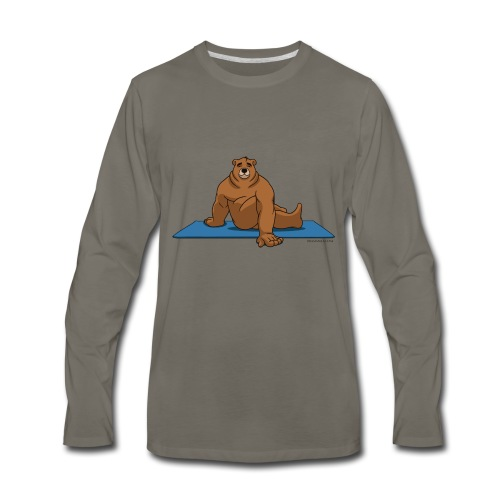 Oh So Yoga - Spine Twist - Men's Premium Long Sleeve T-Shirt