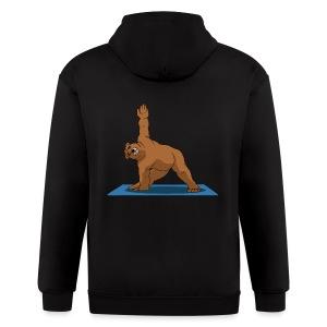 Oh So Yoga - Triangle - Men's Zip Hoodie