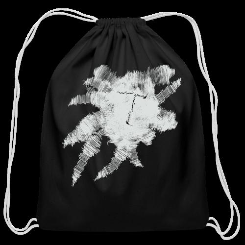 Black Scribble T - Cotton Drawstring Bag