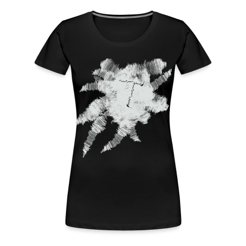 Black Scribble T - Women's Premium T-Shirt