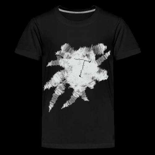 Black Scribble T - Kids' Premium T-Shirt