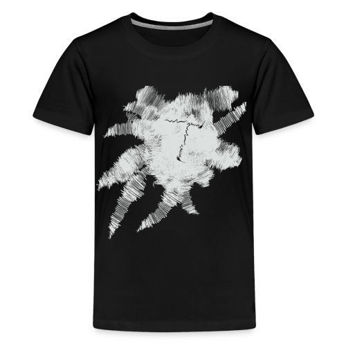 Black Scribble T - Kids' Premium T-Shirt