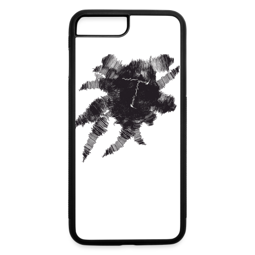 White Scribble T - iPhone 7 Plus/8 Plus Rubber Case