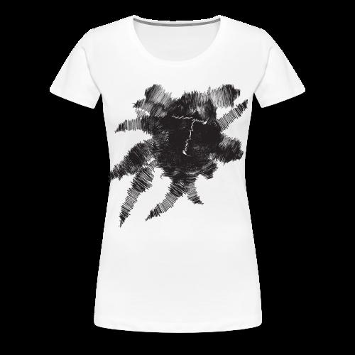 White Scribble T - Women's Premium T-Shirt