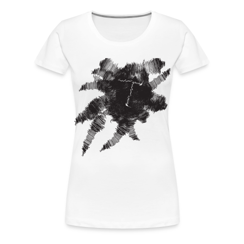 White Scribble T - Women's Premium T-Shirt
