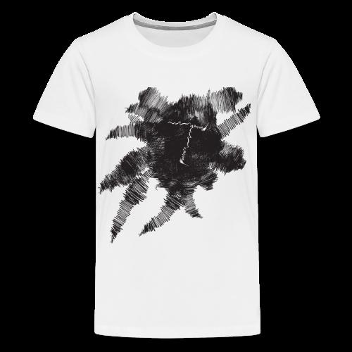 White Scribble T - Kids' Premium T-Shirt