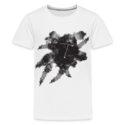 White Scribble T - Kids' Premium T-Shirt