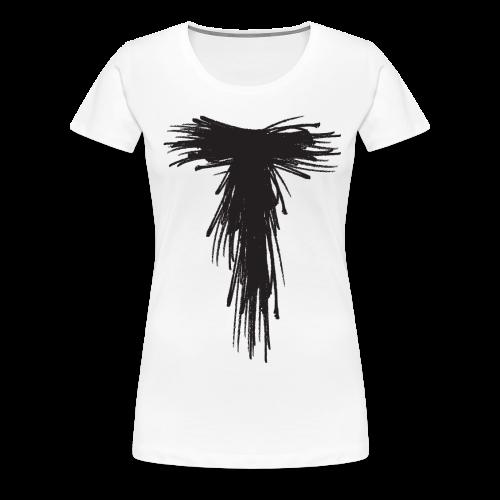 White Solo Scribble T - Women's Premium T-Shirt