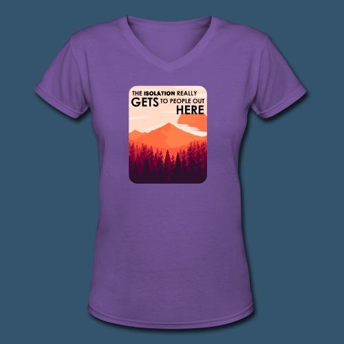 Women's Premium T-Shirt | Firewatch Isolation - Women's V-Neck T-Shirt