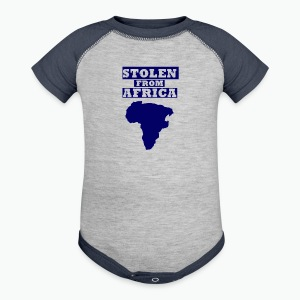 Stolen From Africa Kids Hoodie (Blue Logo) - Baby Contrast One Piece