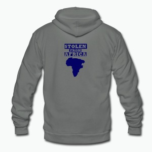 Stolen From Africa Kids Hoodie (Blue Logo) - Unisex Fleece Zip Hoodie by American Apparel