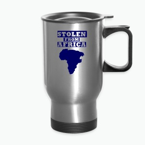 Stolen From Africa Kids Hoodie (Blue Logo) - Travel Mug