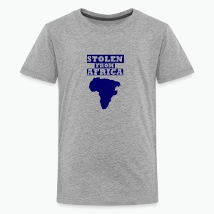 Stolen From Africa Kids Hoodie (Blue Logo) - Kids' Premium T-Shirt