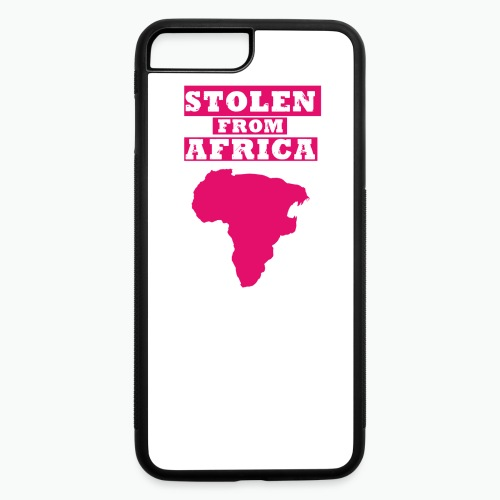 Stolen From Africa Girls Ruffle T-Shirt (Pink Logo) - iPhone 7 Plus/8 Plus Rubber Case