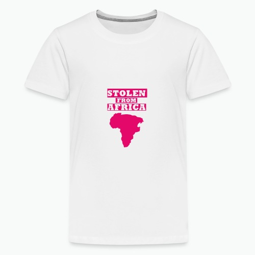 Stolen From Africa Girls Ruffle T-Shirt (Pink Logo) - Kids' Premium T-Shirt