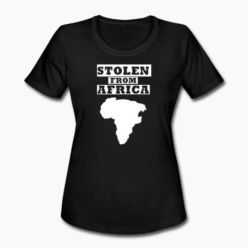 Stolen From Africa Toddler Premium T-Shirt (White Logo) - Women's Moisture Wicking Performance T-Shirt
