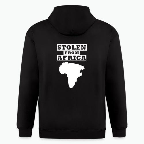 Stolen From Africa Toddler Premium T-Shirt (White Logo) - Men's Zip Hoodie