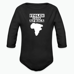 Stolen From Africa Toddler Premium T-Shirt (White Logo) - Long Sleeve Baby Bodysuit