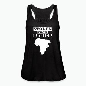Stolen From Africa Toddler Premium T-Shirt (White Logo) - Women's Flowy Tank Top by Bella