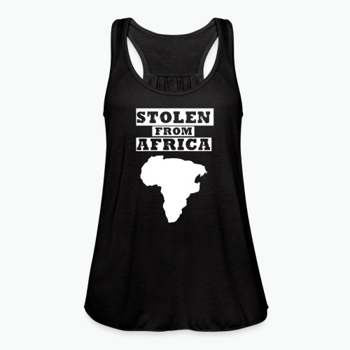 Stolen From Africa Toddler Premium T-Shirt (White Logo) - Women's Flowy Tank Top by Bella