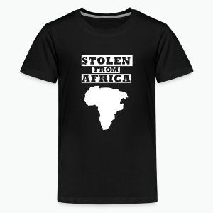 Stolen From Africa Toddler Premium T-Shirt (White Logo) - Kids' Premium T-Shirt