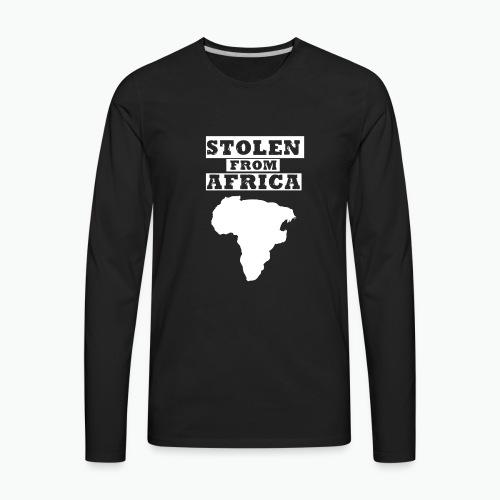 Stolen From Africa Toddler Premium T-Shirt (White Logo) - Men's Premium Long Sleeve T-Shirt