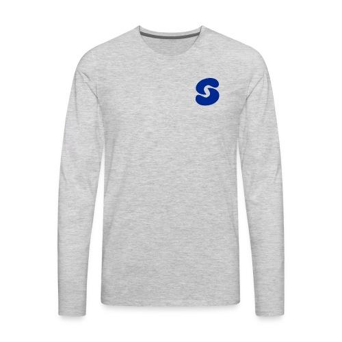 SPACEY WHT LOGO LONG SLEEVE - BLK - Men's Premium Long Sleeve T-Shirt