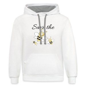 Save The Bees - Contrast Hoodie