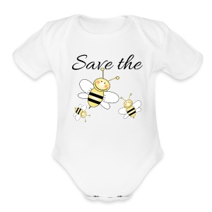 Save The Bees - Short Sleeve Baby Bodysuit