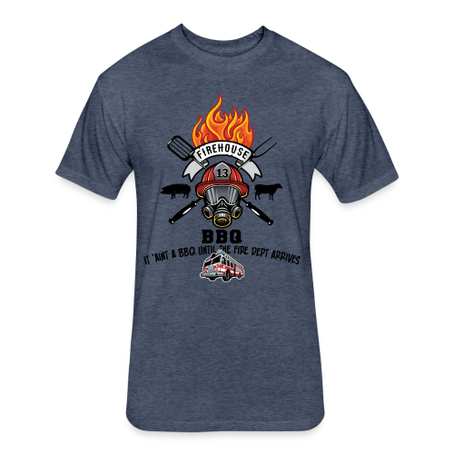 Firehouse BBQ - Fitted Cotton/Poly T-Shirt by Next Level