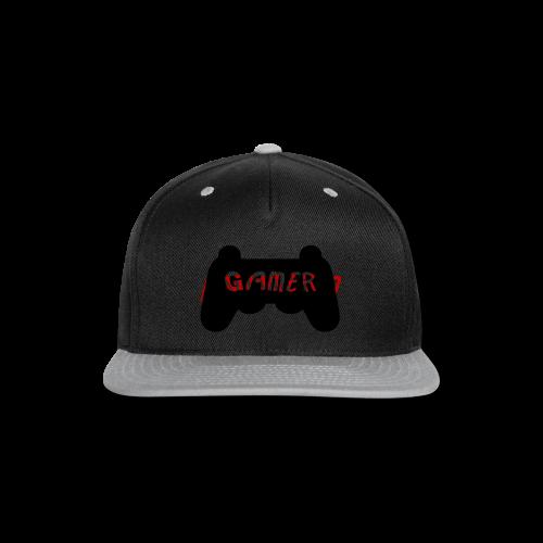 Official AnimeTV Gamer Sweatshirt - Black and Red - Snap-back Baseball Cap