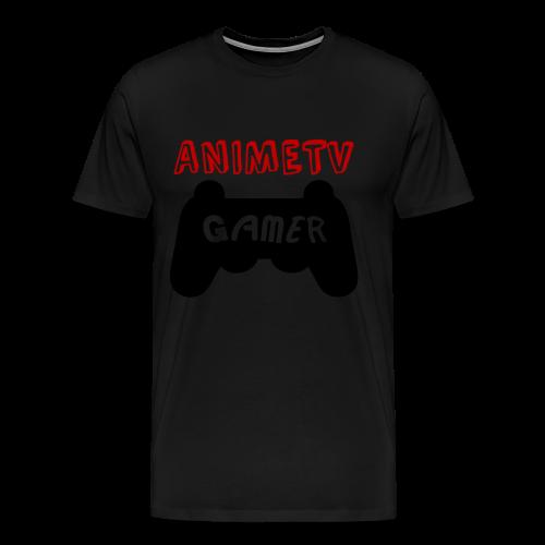 Official AnimeTV Gamer Sweatshirt - Black and Red - Men's Premium T-Shirt