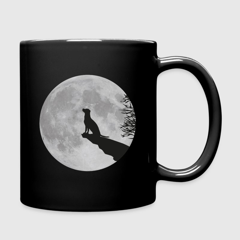 full moon dog werewolf wolf howl labrador pup Mugs & Drinkware - Full Color Mug