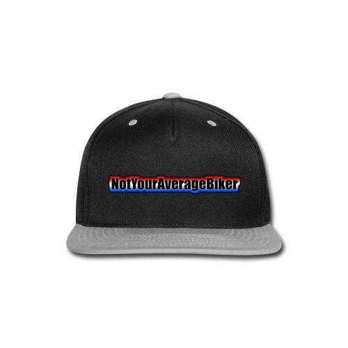 NotYourAverageBiker Hoodie 'SmallBlack' FRONT Logo - Snap-back Baseball Cap