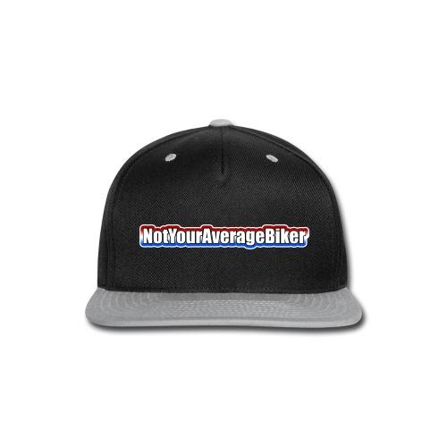 NotYourAverageBiker Hoodie 'SmallWhite' FRONT Logo - Snap-back Baseball Cap