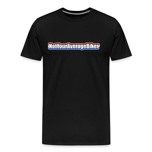 NotYourAverageBiker Hoodie 'SmallWhite' FRONT Logo - Men's Premium T-Shirt
