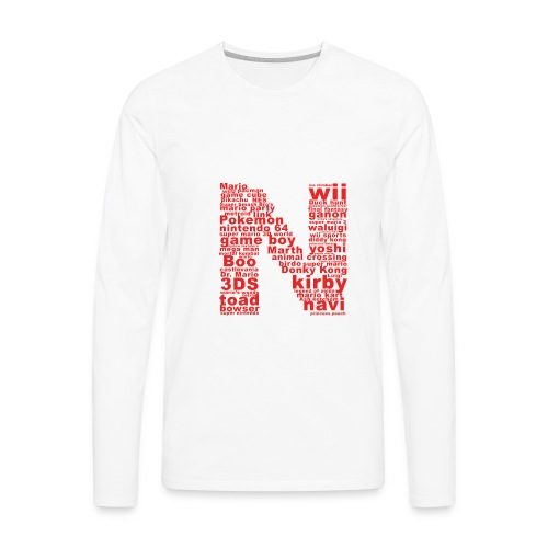 mens NES throwback - Men's Premium Long Sleeve T-Shirt
