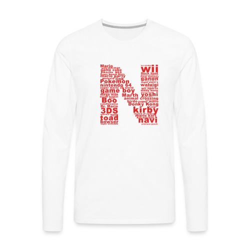 mens NES throwback - Men's Premium Long Sleeve T-Shirt