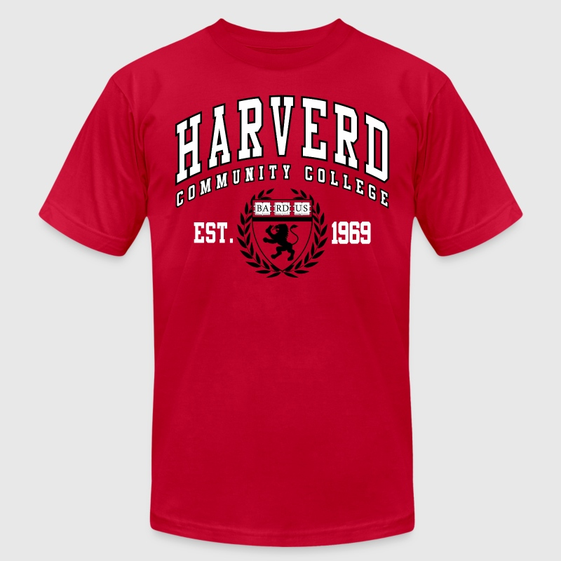 Joke Shirt: Harverd Community College(MIsspelled) T-Shirts - Men's T-Shirt by American Apparel