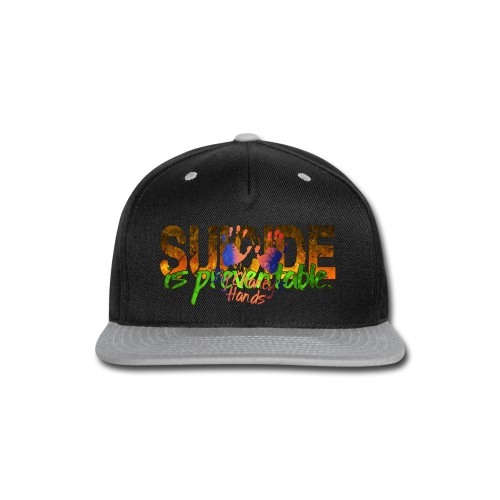 Men's Suicide is preventable. - Snap-back Baseball Cap