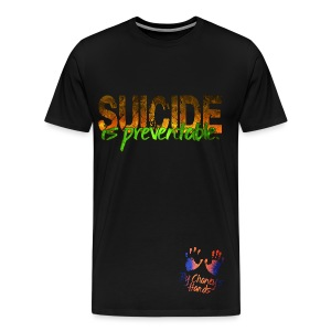 Men's Suicide is preventable. - Men's Premium T-Shirt