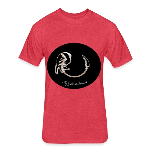 crazy guitar - Fitted Cotton/Poly T-Shirt by Next Level